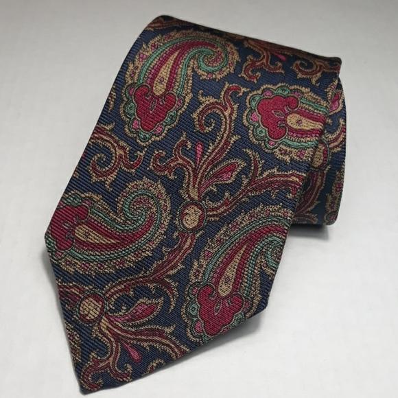 Polo Ralph Lauren multi colored paisley silk tie